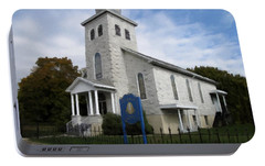 Portable Battery Charger featuring the photograph St Nicholas Church Saint Clair Pennsylvania by David Dehner