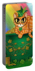 St. Paddy's Day Cat - Orange Tabby Portable Battery Charger