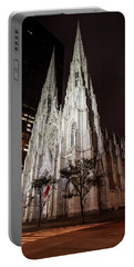 St Patrick Cathedral At Night Portable Battery Charger