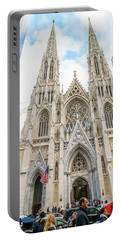 St. Patrick Cathedral In New York Portable Battery Charger