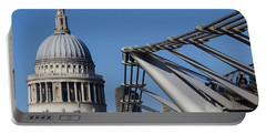 St Pauls Cathedral And The Millenium Bridge  Portable Battery Charger