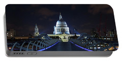 St Paul's Cathedral And The Millennium Bridge Portable Battery Charger
