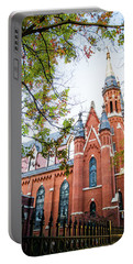 Portable Battery Charger featuring the photograph St Paul's Cathedral In Downtown Birmingham by Shelby Young