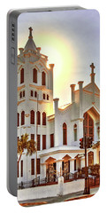Portable Battery Charger featuring the photograph St. Paul's Episcopal Church - Key West by Bob Slitzan