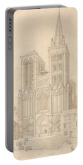 St. Peter At Lisieux, Normandy - West Front Portable Battery Charger