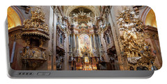 St. Peter Church High Altar In Vienna Portable Battery Charger