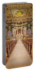 Portable Battery Charger featuring the photograph St Peter The Apostle Church Pa by Susan Candelario