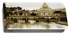 Portable Battery Charger featuring the photograph St. Peters Basilica by Mircea Costina Photography