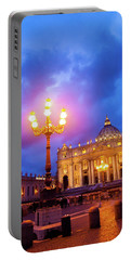 St. Peters Cathedral At Night Portable Battery Charger
