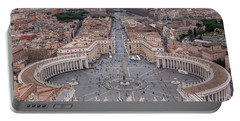 St. Peter's Square Portable Battery Charger by Sergey Simanovsky