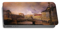 Portable Battery Charger featuring the photograph St Petersburg Canal by Jeff Burgess