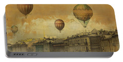 Portable Battery Charger featuring the digital art St Petersburg With Air Baloons by Jeff Burgess
