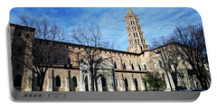 St Sernin Basilica Portable Battery Charger by Cendrine Marrouat