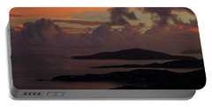 Portable Battery Charger featuring the photograph St Thomas Sunset At The U.s. Virgin Islands by Jetson Nguyen