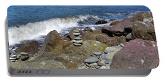 Portable Battery Charger featuring the photograph Stacked Against The Waves by Tikvah's Hope