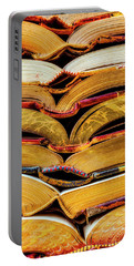 Stacked Book Spines Portable Battery Charger