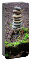 Portable Battery Charger featuring the photograph Stacked Stones And Fairy Tales II by Marco Oliveira