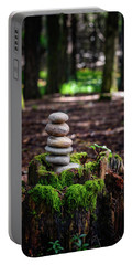Portable Battery Charger featuring the photograph Stacked Stones And Fairy Tales IIi by Marco Oliveira