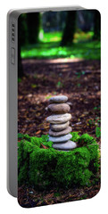 Portable Battery Charger featuring the photograph Stacked Stones And Fairy Tales Iv by Marco Oliveira