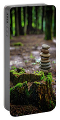 Portable Battery Charger featuring the photograph Stacked Stones And Fairy Tales by Marco Oliveira