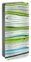 Stacked Tea Towels Portable Battery Charger