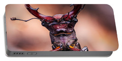 Stag Beetle Stare Down Portable Battery Charger