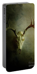 Portable Battery Charger featuring the photograph Stag Skull by Stephanie Frey