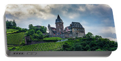 Portable Battery Charger featuring the photograph Stahleck Castle by David Morefield