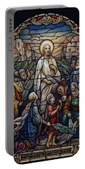Stained Glass - Palm Sunday Portable Battery Charger by Munir Alawi