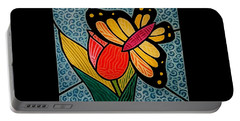 Stained Glass Duo Portable Battery Charger by Jim Harris