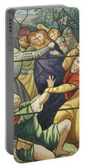 Stained Glass In St Mark's  The Taking Of Christ  Portable Battery Charger