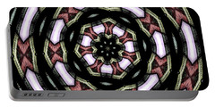 Portable Battery Charger featuring the photograph Stained Glass Kaleidoscope 12 by Rose Santuci-Sofranko