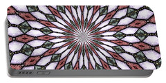 Portable Battery Charger featuring the photograph Stained Glass Kaleidoscope 2 by Rose Santuci-Sofranko