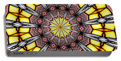 Portable Battery Charger featuring the photograph Stained Glass Kaleidoscope 23 by Rose Santuci-Sofranko