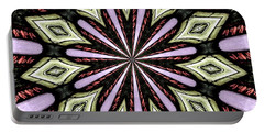 Portable Battery Charger featuring the photograph Stained Glass Kaleidoscope 25 by Rose Santuci-Sofranko