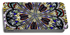 Stained Glass Kaleidoscope 38 Portable Battery Charger