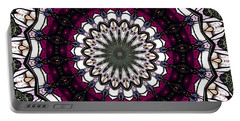Portable Battery Charger featuring the photograph Stained Glass Kaleidoscope 4 by Rose Santuci-Sofranko