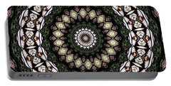 Portable Battery Charger featuring the photograph Stained Glass Kaleidoscope 6 by Rose Santuci-Sofranko