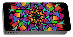 Stained Glass Mandala Portable Battery Charger