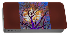 Stained Glass Sunrise Portable Battery Charger