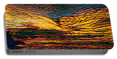 Stained Glass Sunset Portable Battery Charger