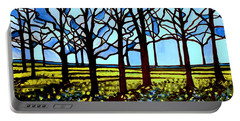 Stained Glass Trees Portable Battery Charger