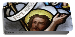 Stained Glass Window, Ecce Agnus Dei  Portable Battery Charger
