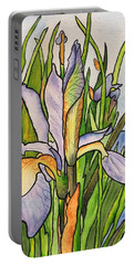 Stained Iris Portable Battery Charger