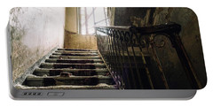 Stairs In Haunted House Portable Battery Charger