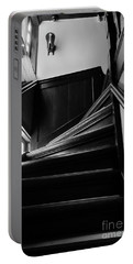 Stairway In Amsterdam Bw Portable Battery Charger by RicardMN Photography