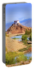Portable Battery Charger featuring the photograph Stakna Monastery by Alexey Stiop
