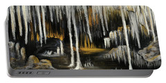 Portable Battery Charger featuring the painting Stalactite Cave by Anastasiya Malakhova