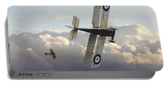 Portable Battery Charger featuring the digital art Stalked - Se5 And Albatros Dlll by Pat Speirs