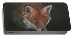 Red Fox In Stalking Mode Portable Battery Charger